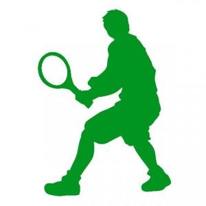 テニスシルエット